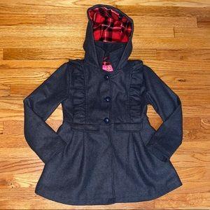 Girl's wool blend pea coat 7/8 💕